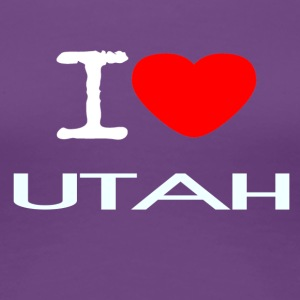 I LOVE UTAH - Women's Premium T-Shirt