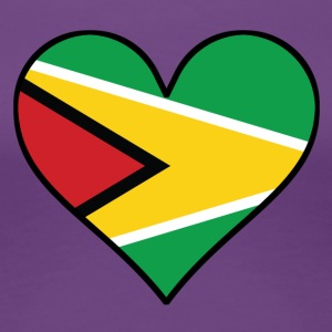 Guyanese Flag Heart - Women's Premium T-Shirt