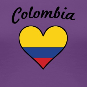 Colombia Flag Heart - Women's Premium T-Shirt