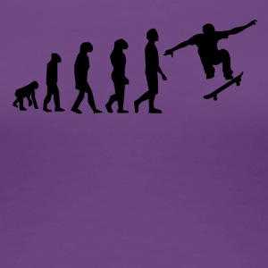 Skateboarding Evolution - Women's Premium T-Shirt