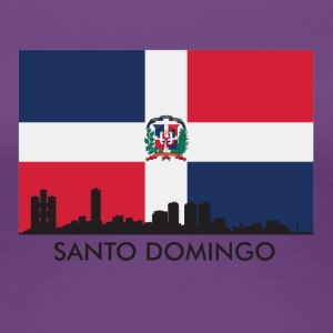Santo Domingo Skyline Dominican Republic Flag - Women's Premium T-Shirt