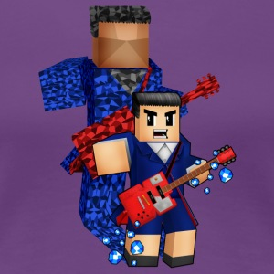 8bit boy with guitar action - Women's Premium T-Shirt