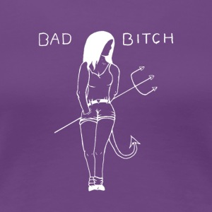 Bad Bitch (White) - Women's Premium T-Shirt
