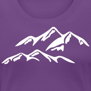 I LOVE the mountains - Women's Premium T-Shirt