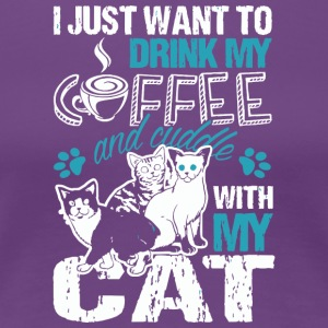 Coffee Cat Love Gift - Women's Premium T-Shirt