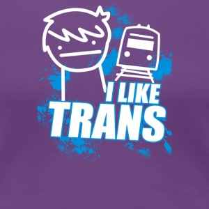 I Like Trains - Women's Premium T-Shirt