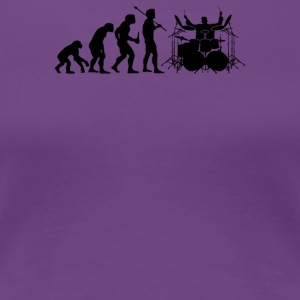 Evolution of Drummer - Women's Premium T-Shirt