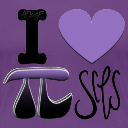 HEWGE I LOVE PISCES ORIGINAL GRAPHIC DESIGN PI DAY - Women's Premium T-Shirt