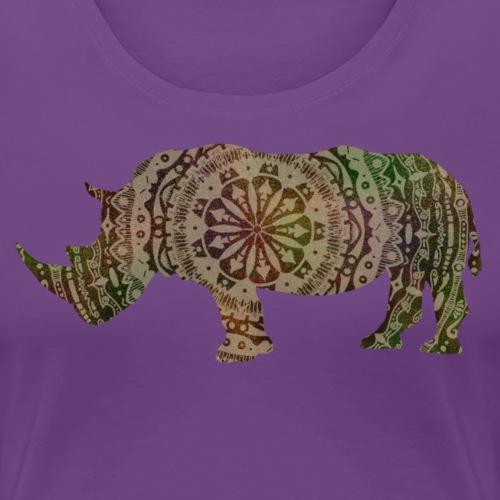 mandala rhino - Women's Premium T-Shirt