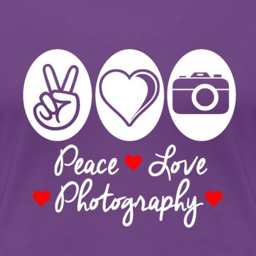 Peace Love Photography - Women's Premium T-Shirt