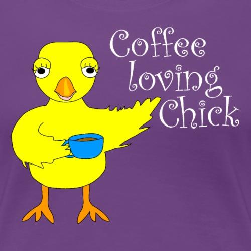 Coffee Chick White Text - Women's Premium T-Shirt