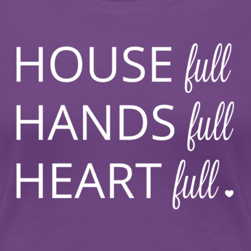 House, Hands and Heart Full in White