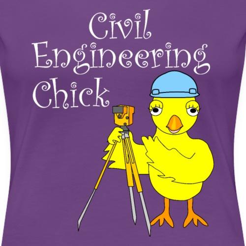 Civil Engineering Chick White Text