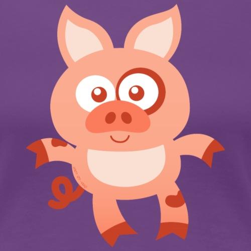 Smiling Baby Pig - Women's Premium T-Shirt