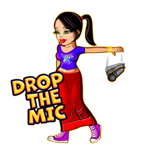 Drop the Mic - Women's Premium T-Shirt