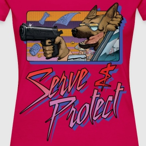 Gun Dog - Serve and Protect - Women's Premium T-Shirt