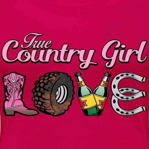 TrueCountryGirl LOVE - Women's Premium T-Shirt