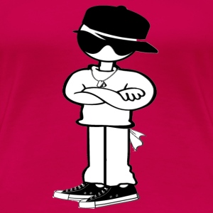 Hip Hop Cool Guy - Too Fly! - Women's Premium T-Shirt