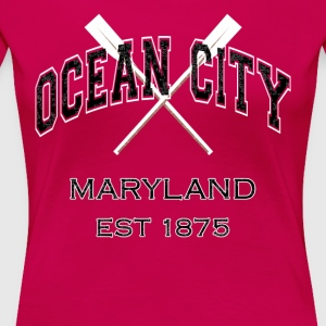 Ocean City Maryland Established 1875 - Women's Premium T-Shirt