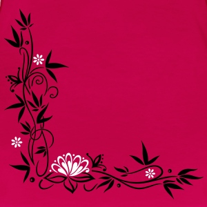 Bamboo with small blossoms and lotus flower. - Women's Premium T-Shirt