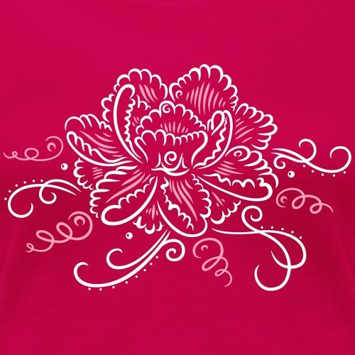 Peony with flourishes - Women's Premium T-Shirt