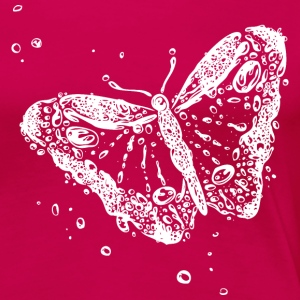 Water splash, butterfly and water drops. - Women's Premium T-Shirt