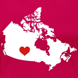 My Heart belongs in Canada - Women's Premium T-Shirt