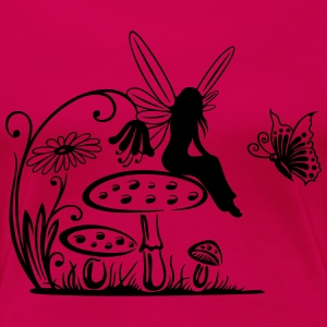 Little fairy on a mushroom - Women's Premium T-Shirt