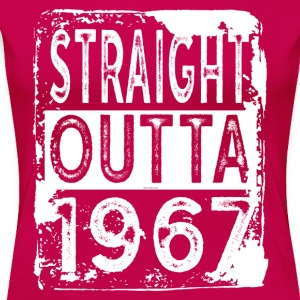Funny 50th Birthday Gift: Straight Outta 1967 - Women's Premium T-Shirt