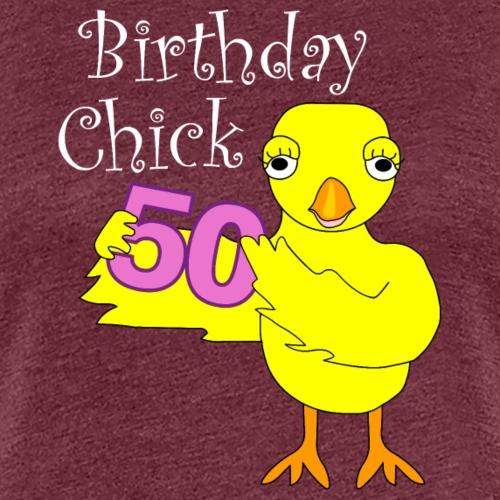 50th Birthday Chick White Text - Women's Premium T-Shirt