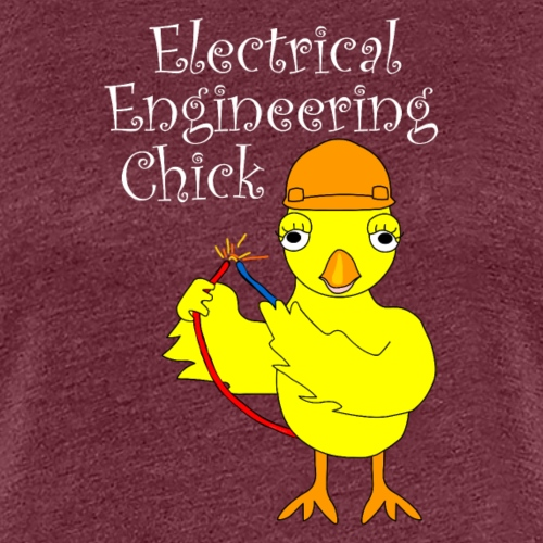 Electrical Engineering Chick White Text