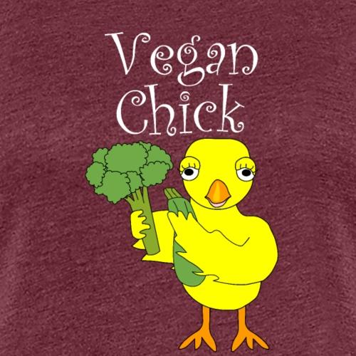 Vegan Chick White Text - Women's Premium T-Shirt