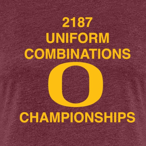 2187 UNIFORM COMBINATIONS O CHAMPIONSHIPS - Women's Premium T-Shirt