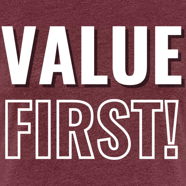 Value First Design - White Text