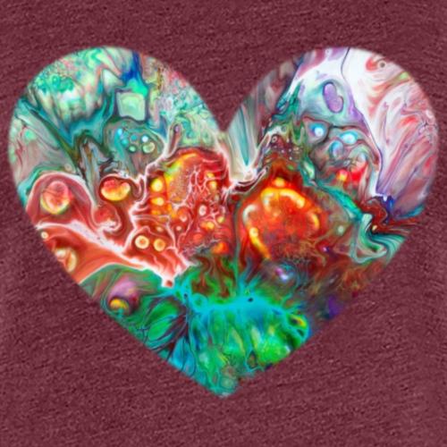 Heart Abstract Multicolored Green - Women's Premium T-Shirt