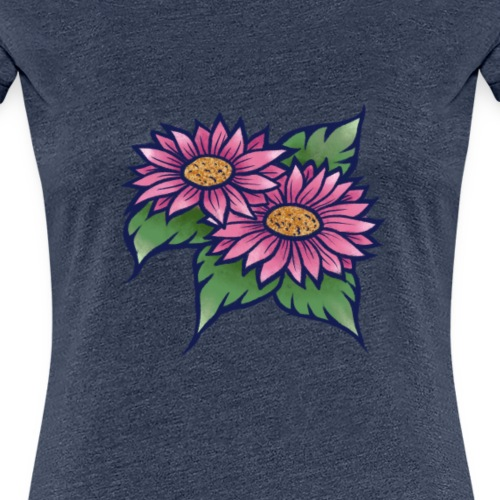 Pink Daisy Garden - Women's Premium T-Shirt