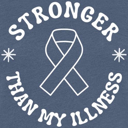 Stronger than my illness (Dark) - Women's Premium T-Shirt