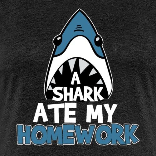 A Shark Ate My Homework - Women's Premium T-Shirt