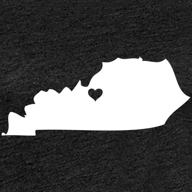Kentucky Silhouette Heart