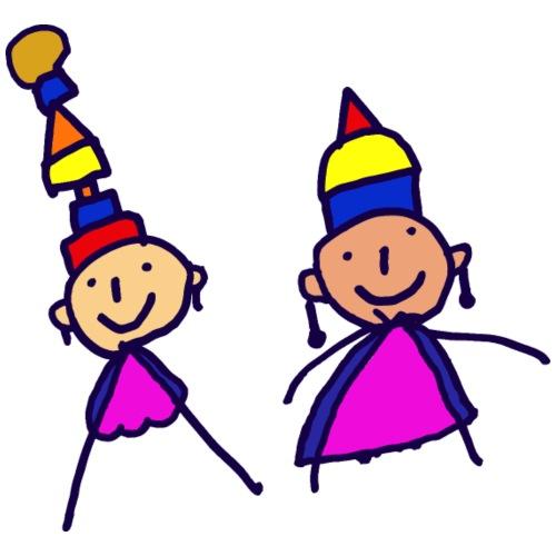 2 girls in hat - Women's Premium T-Shirt
