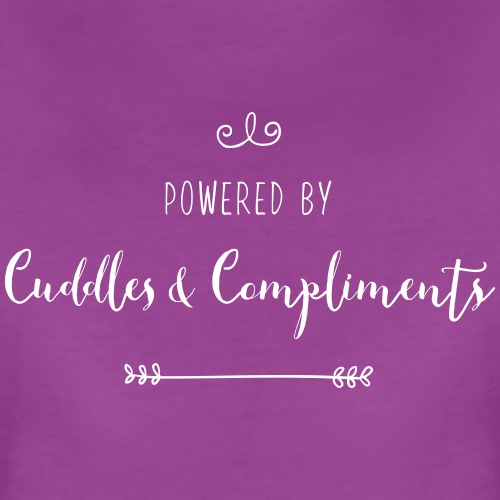 Powered by Cuddles and Compliments - Women's Premium T-Shirt