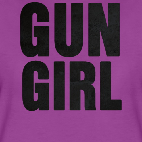 Gun Girl Black Textured - Women's Premium T-Shirt