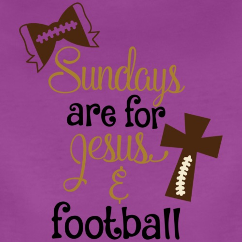 Football & Jesus - Women's Premium T-Shirt