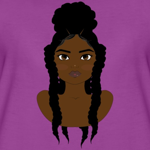 Braids in A Bun - Women's Premium T-Shirt