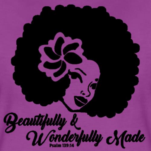 Beautifully and Wonderfully Made Psalm 139:14 - Women's Premium T-Shirt