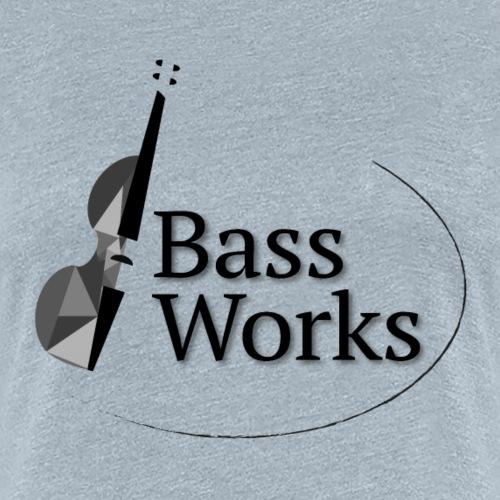 Bass Works Black and White Logo - Women's Premium T-Shirt