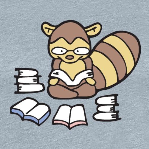 Reading Raccoon - Women's Premium T-Shirt