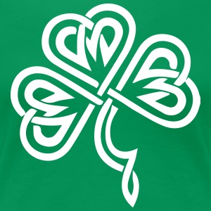 Celtic Shamrock Green 02 - Women's Premium T-Shirt