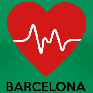 Heart Barcelona - Women's Premium T-Shirt