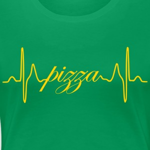 Pizza ECG heartbeat - Women's Premium T-Shirt
